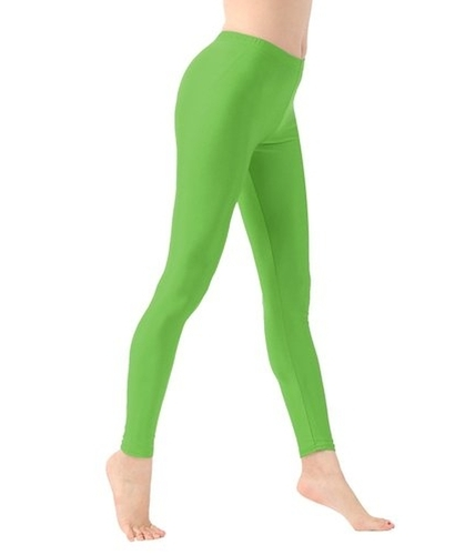 Green Ankle Length Leggings