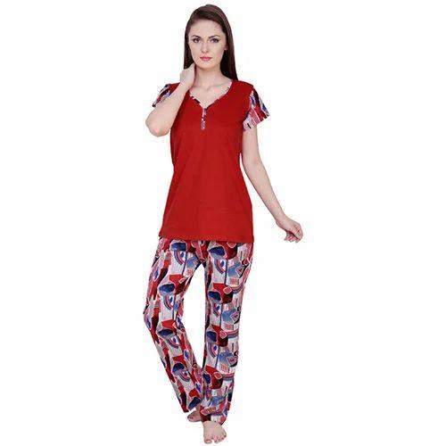 7b518c6d65b Cotton Designer Ladies Night Suit