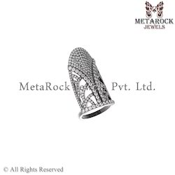 92.5 Sterling Silver White Diamond Ring