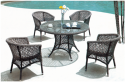 Net Style Wicker Outdoor Coffee Set