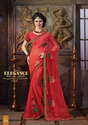 Chiffon Indian Designer Sarees With Blouse Piece