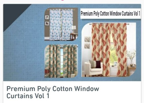 Premium Poly Cotton Window Curtains
