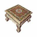 Golden Wooden Meenakari Handicraft Bajot