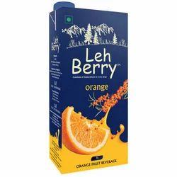 Leh Berry Orange Juice, Packaging Type: Pouches