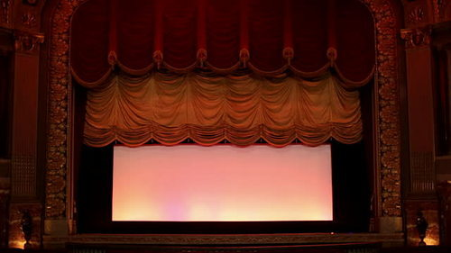 Auditorium Motorized Stage Curtains Horizontal Team
