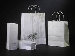 Yessir White Bleached Kraft Paper Bag, Capacity: 2kg, Packaging Type: Cartons