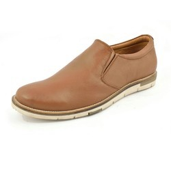 Brown Leather Formal Shoes, Size: 6 to 11