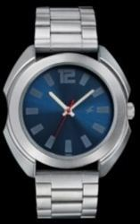 Navy Blue Fastrack Metal Analog Watch Silver