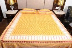 Sanganeri Printed Double Bed Sheet