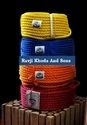 Ravji Khoda And Sons Natural And Red Hdpe Mono Multicolor Rope