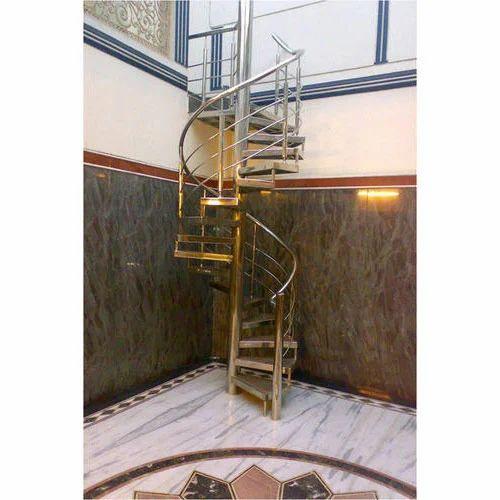 Circular, Spiral Stainless Steel Stairs