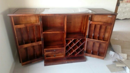 Antique Bar Cabinet Complete Wood Rs 35000 Piece Sheesham Home