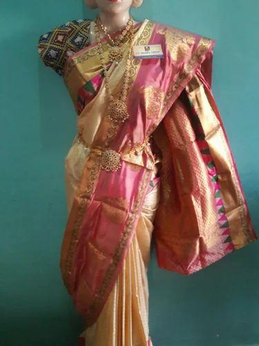 8a3fe39847ab21 Party Wear And Wedding Wear Half Fine Zari Gold Uppada Pattu Sarees ...