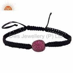 925 Silver Ruby Gemstone Bracelet