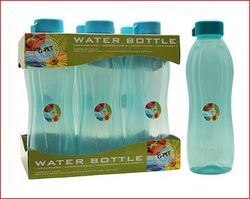 Screw Cap Plastic Iris Sea Green Tray With Bottle, For Water Storage, Capacity: 1 Liter