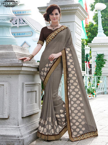 ff2d8bf1d9 Georgette With Nice Work - Georgette Sarees With Nice Embroidery ...
