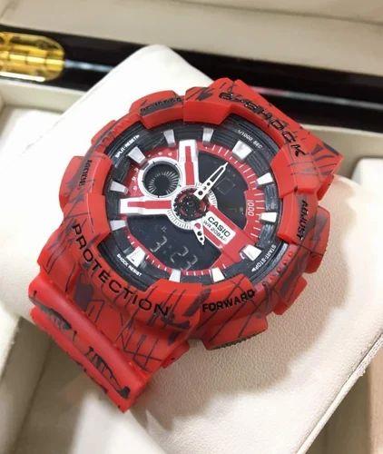 c7351329e21c Round Casio Red G-Shock Wrist Watch
