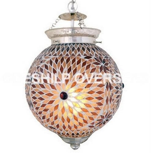 Deshilp Overseas More Color Available Amber Color Mosaic Hanging