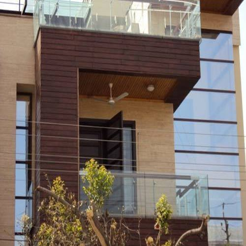 Exterior Facade Wooden Cladding, wood cladding, वुडन ...