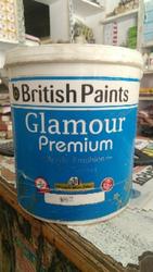 Emulsion British Paints Glamour Premium, Packaging Type: Bucket