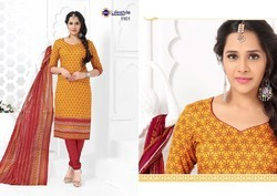 Pure Cotton Salwar Suit Dress Material