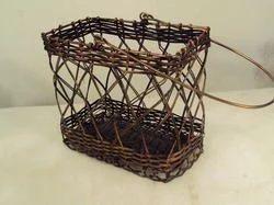 Iron Rectangular Handcrafted Basket, Size: 757