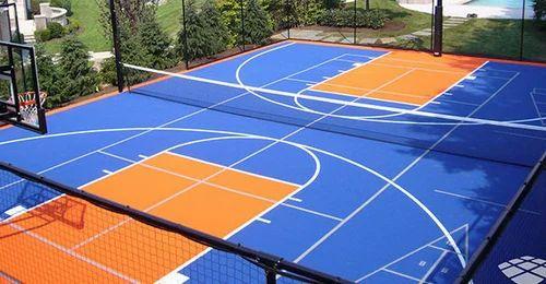 Multi Sport Court Vinyl Plastic Amp Rubber Floor Tiles