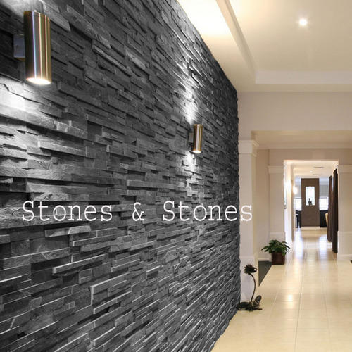 Black Slate Wall Cladding Tiles At Rs 70 Wall Cladding