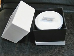 White Ceramic Candle In A Black Box