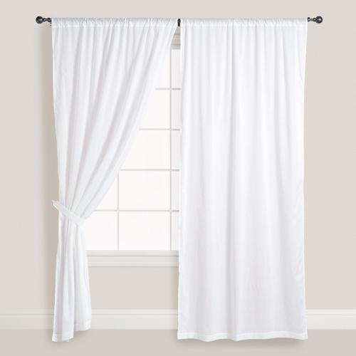 White Cotton Curtains At Rs 750 Piece