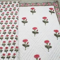 White Block Print Quilts
