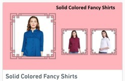 Female Rayon / Viscose Solid Coloured Fancy Women Shirts