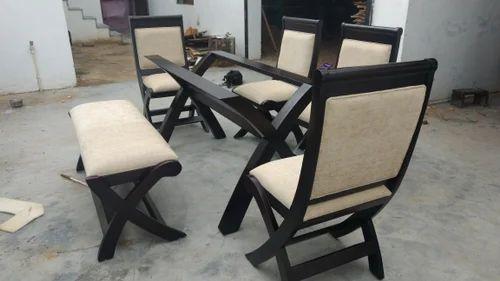 Wooden Dining Set Cross Leg Table Exporter From Jaipur
