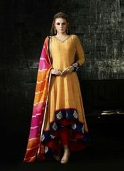 Orange Exclusive Party Wear Designer Suit