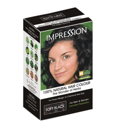 ceda738630cf8 Impression Soft Black Hair Color, Pack Size: 50gm, For Parlour | ID ...
