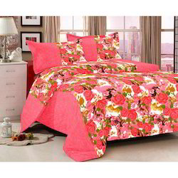 Printed Handloom Double Bedsheet, Size: 90x108