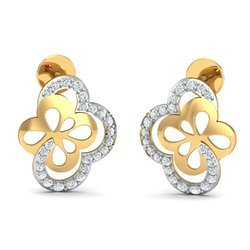 13K Diamond Earring