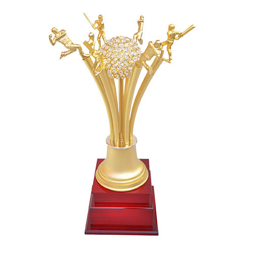 Golden Cricket Figures Trophy, Shape: Custom Shape, Rs 8000 /number | ID:  11474511312