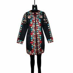 XL Regular Fit Ladies Woolen Twill Kurti