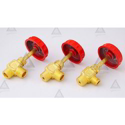 High Pressure Brass F type 3/8cu. X 3/8 taper Valve, 102g