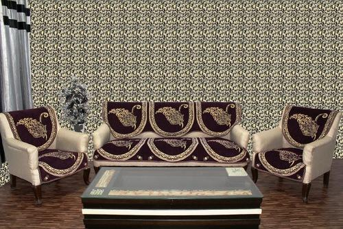 Fantastic Chenille Sofa Cover I 20 Wine Pabps2019 Chair Design Images Pabps2019Com