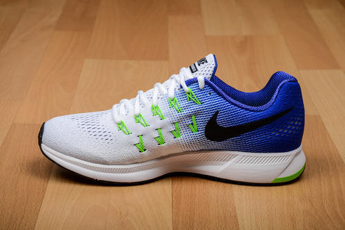 taille 40 6efb5 027da Nike Air Zoom Pegasus 33 White Blue Running Sport Shoes