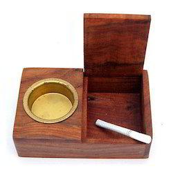 Box Wooden Ashtray