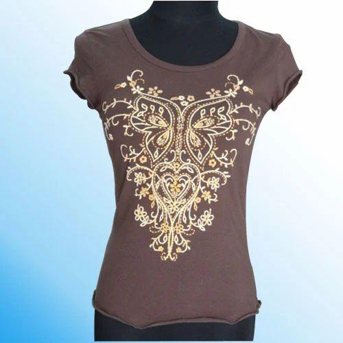 c7d2b4bd Dark Coffee Ladies Designer T-Shirt, Rs 140 /piece, Chosen People ...