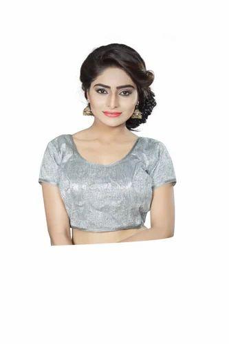 f6f58698f3 Grey Trendy Blouse, डिज़ाइनर ब्लाउज़ - Anoha, Surat ...