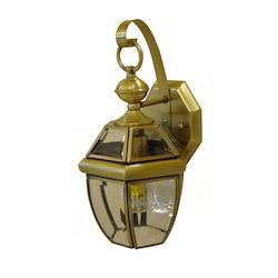 Warm White Metal and Glass Fancy Wall Lamp