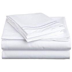 300 TC White Bed Sheet Fabric