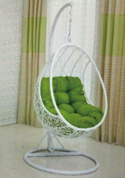Oval Style Outdoor Wicker Hanging Chair