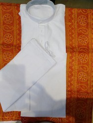 White Mens Kurtas ( Cotton )