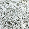 Candy White Rubber Bands
